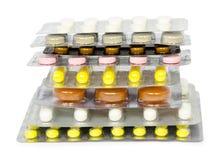 Το σύνολο φαρμάκων για μια γρήγορη αποκατάσταση και στηρίζει τη ζωή απομονωμένος Στοκ φωτογραφία με δικαίωμα ελεύθερης χρήσης