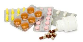Το σύνολο φαρμάκων για μια γρήγορη αποκατάσταση και στηρίζει τη ζωή απομονωμένος Στοκ Εικόνες