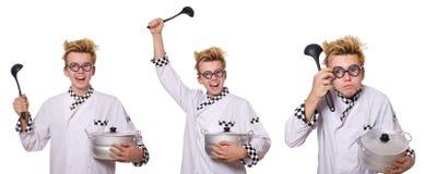 Το σύνολο φωτογραφιών με τον αστείο μάγειρα Στοκ Φωτογραφία