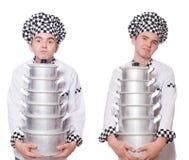 Το σύνολο φωτογραφιών με τον αστείο μάγειρα Στοκ εικόνα με δικαίωμα ελεύθερης χρήσης