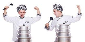Το σύνολο φωτογραφιών με τον αστείο μάγειρα Στοκ φωτογραφία με δικαίωμα ελεύθερης χρήσης