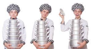 Το σύνολο φωτογραφιών με τον αστείο μάγειρα Στοκ Εικόνες