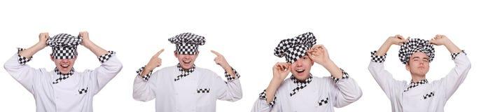 Το σύνολο φωτογραφιών με τον αστείο μάγειρα Στοκ εικόνες με δικαίωμα ελεύθερης χρήσης