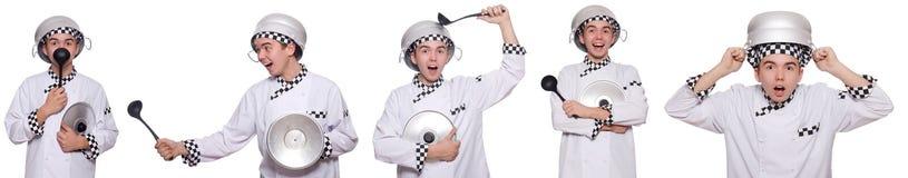 Το σύνολο φωτογραφιών με τον αστείο μάγειρα Στοκ Φωτογραφίες