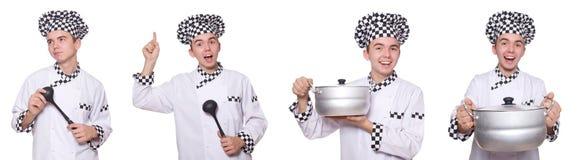 Το σύνολο φωτογραφιών με τον αστείο μάγειρα Στοκ φωτογραφίες με δικαίωμα ελεύθερης χρήσης