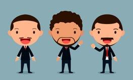 Το σύνολο χαρακτήρων επιχειρηματιών θέτει, εργαζόμενος γραφείων, μορφή Στοκ Εικόνα