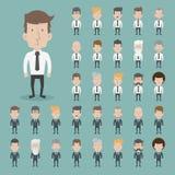 Το σύνολο χαρακτήρων επιχειρηματιών θέτει Στοκ Εικόνες