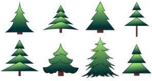 Το σύνολο fir-trees και των πεύκων Στοκ εικόνα με δικαίωμα ελεύθερης χρήσης