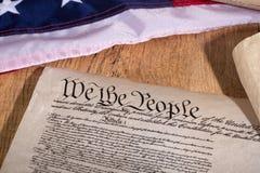 το σύνταγμα δηλώνει ενωμένο στοκ εικόνες με δικαίωμα ελεύθερης χρήσης