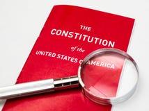 Το σύνταγμα των Ηνωμένων Πολιτειών της Αμερικής Στοκ Εικόνες