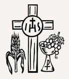 Το σώμα συμβόλων και το αίμα Ιησούς Χριστού ΤΟΥ απεικόνιση αποθεμάτων