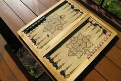 Το τάβλι είναι ένα άλλο αρχαίο παιχνίδι Στοκ εικόνα με δικαίωμα ελεύθερης χρήσης