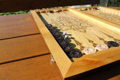 Το τάβλι είναι ένα άλλο αρχαίο παιχνίδι Στοκ Φωτογραφία