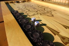 Το τάβλι είναι ένα άλλο αρχαίο παιχνίδι Στοκ Φωτογραφίες