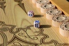 Το τάβλι είναι ένα άλλο αρχαίο παιχνίδι Στοκ φωτογραφίες με δικαίωμα ελεύθερης χρήσης