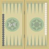Το τάβλι στο ξύλινο κιβώτιο, δύο χωρίζει σε τετράγωνα και τσιπ διανυσματική απεικόνιση