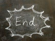 Το τέλος λέξης στο σημάδι φυσαλίδων Στοκ εικόνες με δικαίωμα ελεύθερης χρήσης