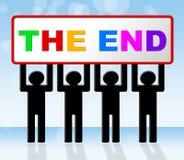 Το τέλος σημαίνει την τελικά λήξη και το συμπέρασμα διανυσματική απεικόνιση