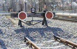 Το τέλος του σιδηροδρόμου Στοκ φωτογραφία με δικαίωμα ελεύθερης χρήσης