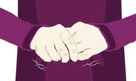 Το τίναγμα χεριών αυτόματο είναι ένα σύμπτωμα Parkinson της ασθένειας Στοκ εικόνα με δικαίωμα ελεύθερης χρήσης