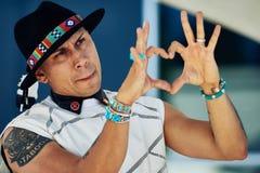 Το ταμπού από τους Black Eyed Peas παρουσιάζει εκτίμησή του στοκ εικόνα