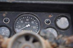 Το ταμπλό ενός εγκαταλειμμένου τζιπ στο Βιετνάμ Στοκ Εικόνα