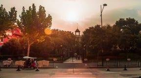 Το ταξίδι ηλιοβασιλέματος βραδιού χτυπά στοκ εικόνες με δικαίωμα ελεύθερης χρήσης