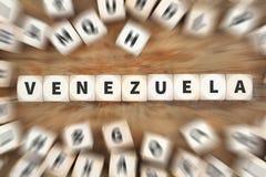 Το ταξίδι κρίσης σύγκρουσης χωρών της Βενεζουέλας που ταξιδεύει χωρίζει σε τετράγωνα την επιχείρηση Στοκ Εικόνες
