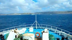 Το ταξίδι πορθμείων στο νησί Gozo, Μάλτα απόθεμα βίντεο