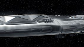 Το ταξίδι στην Αφροδίτη, διαστημόπλοιο sci-Fi που πλησιάζει στον πλανήτη, μηχανές κυμαίνεται, τρισδιάστατη ζωτικότητα Η σύσταση τ διανυσματική απεικόνιση