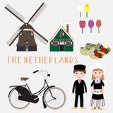 Το ταξίδι Netherland infographic Στοκ φωτογραφία με δικαίωμα ελεύθερης χρήσης