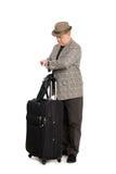το ταξιδιωτικό ρολόι αποσκευών βλεμμάτων του Στοκ Φωτογραφία
