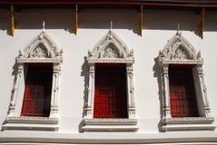 Το ταϊλανδικοί architechture και Ταϊλανδός στο ναό Στοκ φωτογραφίες με δικαίωμα ελεύθερης χρήσης