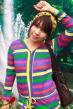 Το ταϊλανδικό κορίτσι είναι οδοντικά στηρίγματα Στοκ εικόνες με δικαίωμα ελεύθερης χρήσης