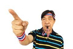 Το ταϊλανδικό άτομο αντιστέκεται στην ταϊλανδική κυβέρνηση στοκ φωτογραφίες