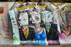 Το τείχος του Βερολίνου (από το Βερολίνο Mauer) στη Γερμανία Στοκ Φωτογραφία