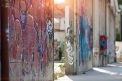 Το ΤΕΛ ΑΒΙΒ, ΙΣΡΑΗΛ, μπορεί, το 2018 Γκράφιτι στον τοίχο στη Florentine περιοχή του Τελ Αβίβ, Ισραήλ Στοκ Εικόνα