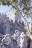 το τεμάχιο φρουρίων ακτών αιώνα κάστρων alanya εντόπισε τη μεσογειακή θάλασσα κορυφαία Τουρκία ΧΙΙΙ βουνών Γκρίζος-μπλε τοίχος πε Στοκ φωτογραφία με δικαίωμα ελεύθερης χρήσης
