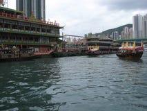 Το τεράστιο επιπλέον εστιατόριο, υποκρίνεται ωχρό, Αμπερντήν, Χονγκ Κο στοκ φωτογραφία με δικαίωμα ελεύθερης χρήσης