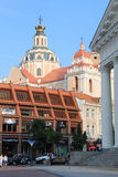Το τετράγωνο Δημαρχείων στην πόλη Vilnius, Vilnius, Λιθουανία Στοκ εικόνα με δικαίωμα ελεύθερης χρήσης
