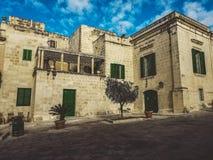Το τετράγωνο στη Μάλτα όπου το παιχνίδι των θρόνων ήταν στοκ εικόνες