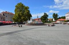 Το τετράγωνο της ελευθερίας στο tuzla πόλεων Στοκ Φωτογραφία