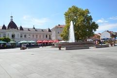 Το τετράγωνο της ελευθερίας στο tuzla πόλεων Στοκ Εικόνα