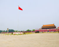 Το τετράγωνο Tian'anmen και gatetower Στοκ Εικόνες
