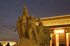 το τετραγωνικό άγαλμα mao ηρώων ο τάφος Στοκ εικόνες με δικαίωμα ελεύθερης χρήσης