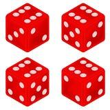Το τετραγωνικό κόκκινο χωρίζει σε τετράγωνα το σύνολο αντικειμένου που απομονώνεται Στοκ Φωτογραφία