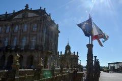 Το τετραγωνικό Obradoiro, Σαντιάγο de Compostela Στοκ εικόνα με δικαίωμα ελεύθερης χρήσης