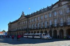 Το τετραγωνικό Obradoiro, Σαντιάγο de Compostela Στοκ Φωτογραφίες