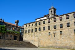 Το τετραγωνικό Obradoiro, Σαντιάγο de Compostela Στοκ Φωτογραφία