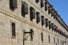 Το τετραγωνικό Obradoiro, Σαντιάγο de Compostela Στοκ φωτογραφίες με δικαίωμα ελεύθερης χρήσης
